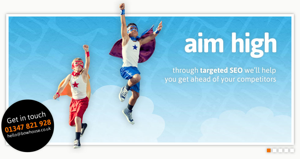 aim high - through targeted SEO we'll help you get ahead of your competitors