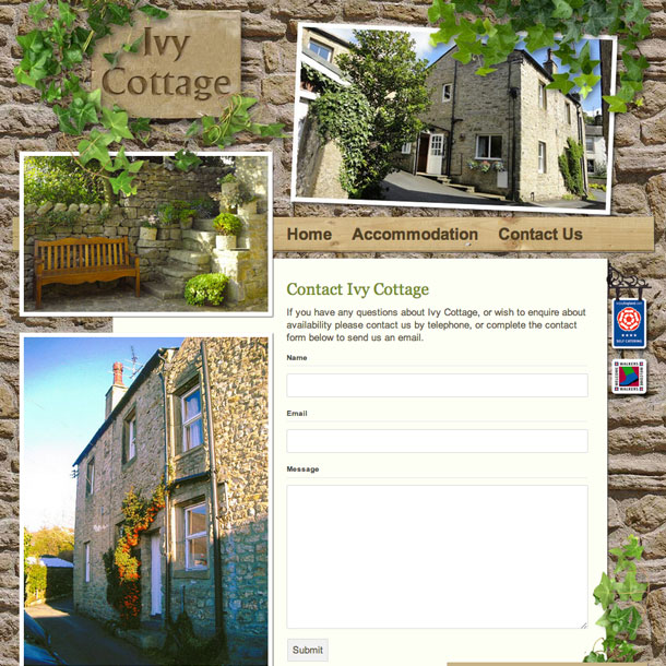 New Website For A Holiday Cottage In Yorkshire