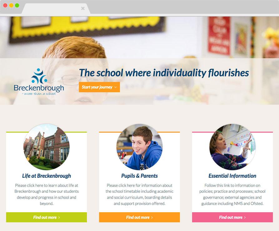 Breckenbrough School website screenshot