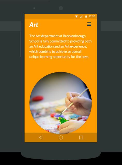 Breckenbrough School mobile site