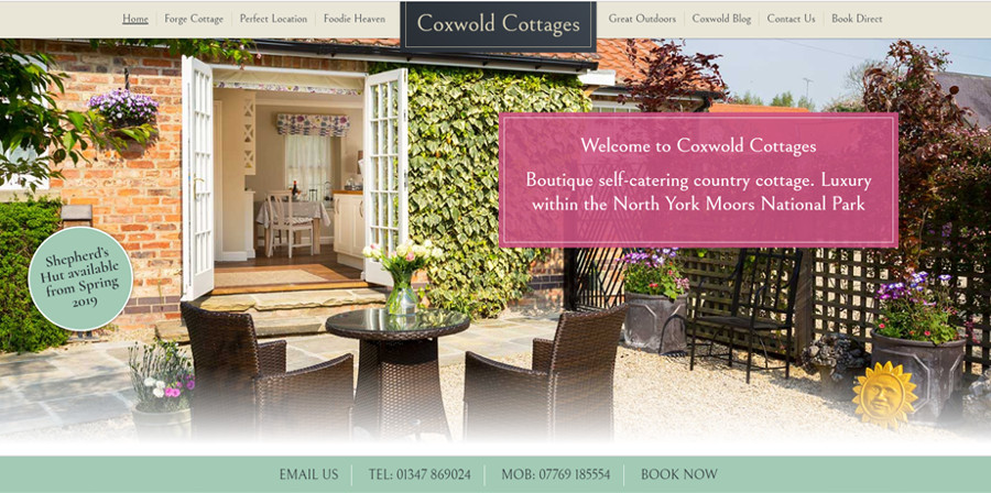 Coxwold Cottages website screengrab