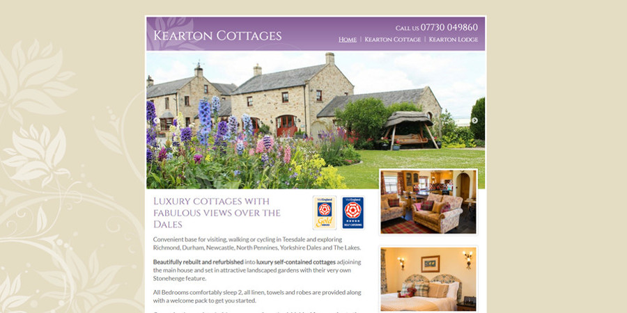 Kearton Cottages website launch screenshot