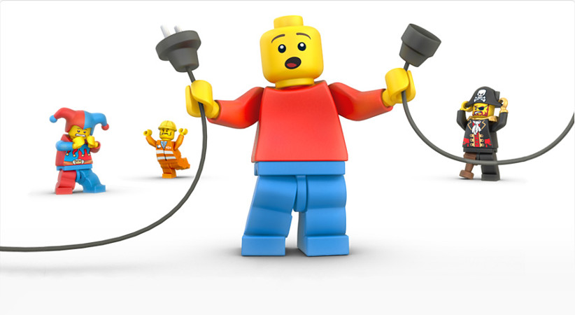 Lego using creative 404 pages with their characters