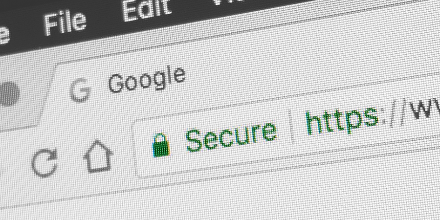 padlock showing an SSL certificate on a website