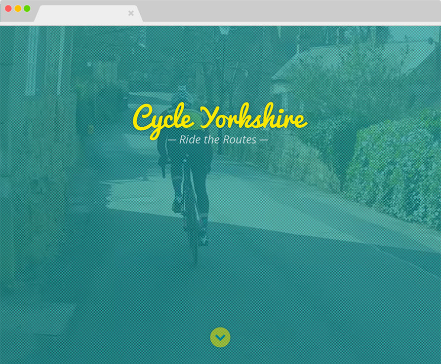 Ride the Routes Cycle Yorkshire website screenshot