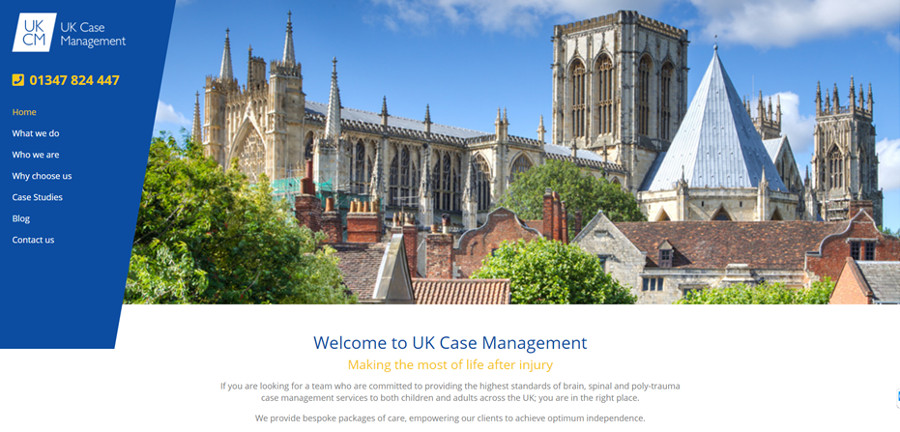 UK case management website screenshot