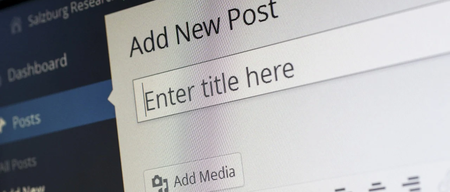WordPress CMS adding a post