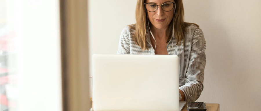 woman learning what CMS stands for